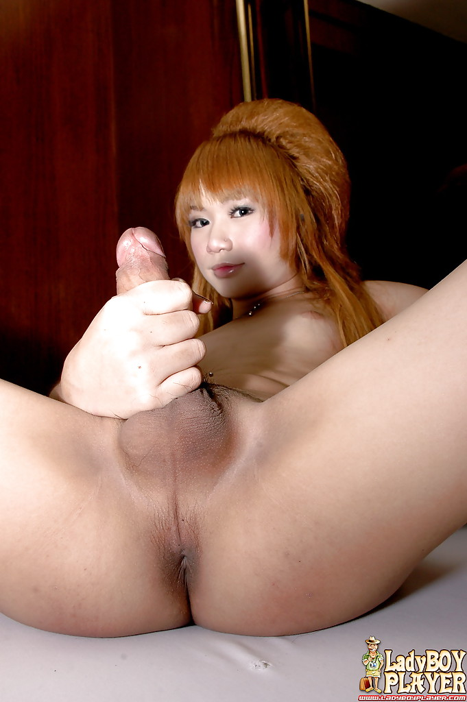Redhead asian shemale ming flashing nice tranny boobs and post op pussy