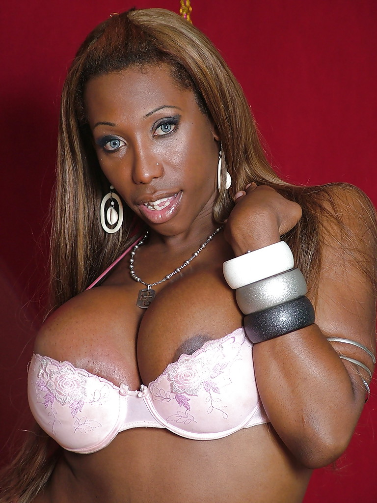 fat ebony tranny jackeline brazil showing off large tits and big