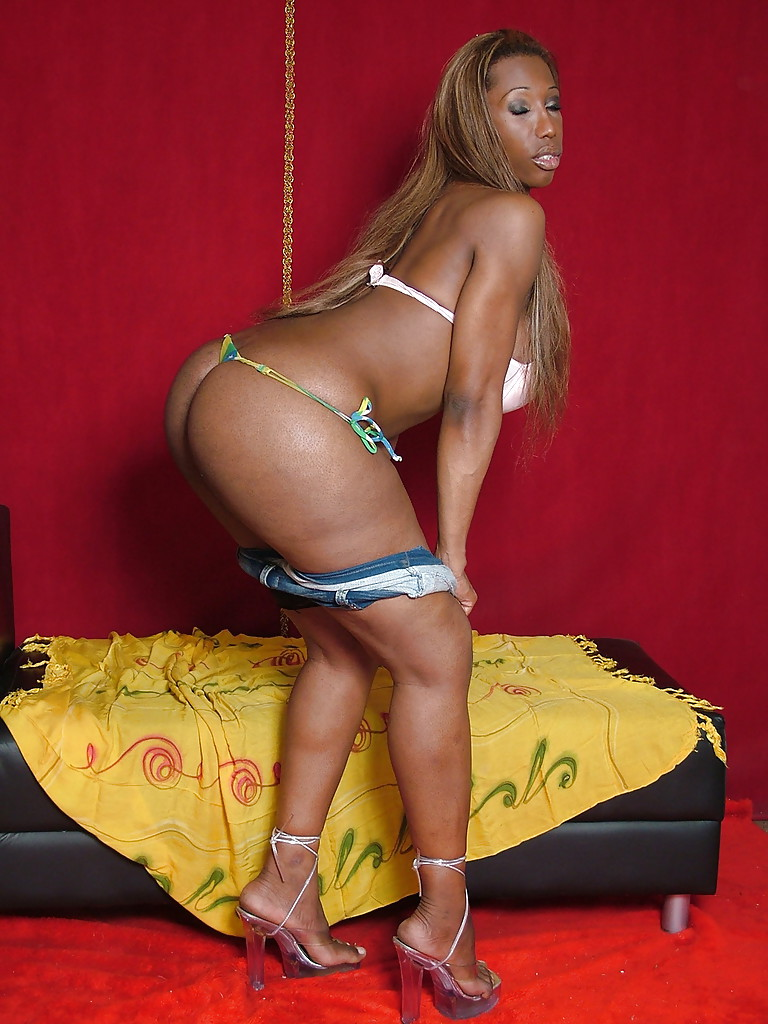 Ebony big ass tranny